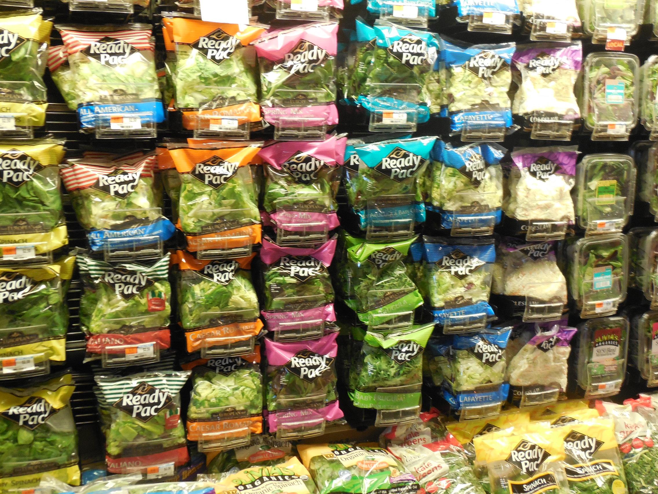 pre packaged salad
