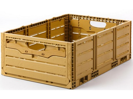 Wood Grain Reusable Plastic Containers are Introduced